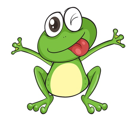 baby drawing: illustration of a frog on a white background