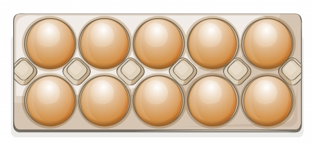 twelve: illustration of eggs on a white background