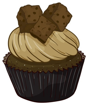 Illustration of an isolated cupcake Stock Illustration - 16087448