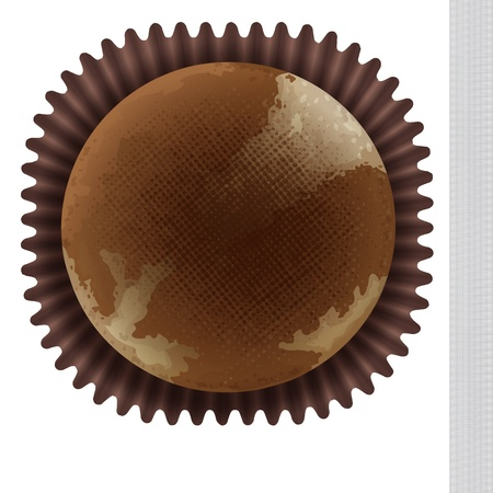 minature: Illustration of an isolated cupcake top view