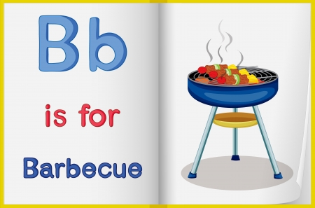 learning to cook: Illustrated voabulary learning sheet in a book