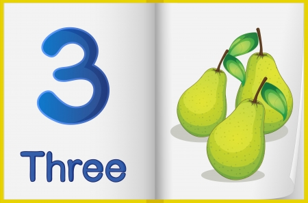 childrens food: Counting number illustration sheet in book
