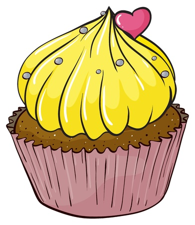 Illustration of an isolated cupcake Stock Vector - 16115304