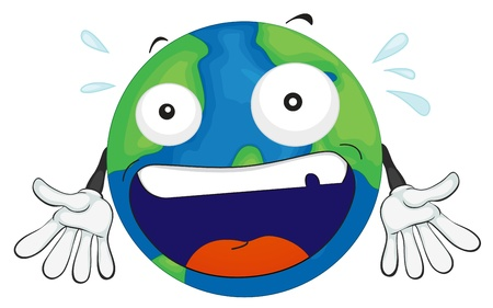 illustration of an earth planet on a white background Vector