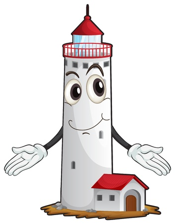 illustration of a light house on a white background Vector