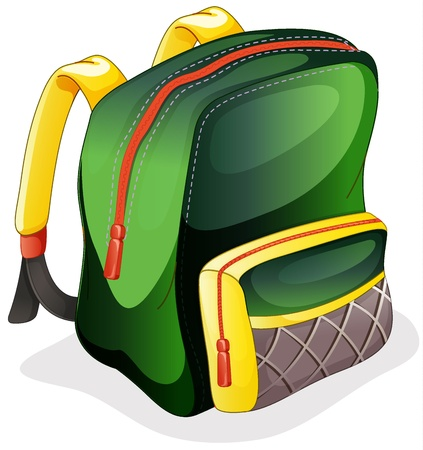 schoolbag: illustration of a school bag on a white background