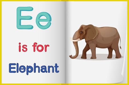 phonics: Illustrated voabulary learning sheet in a book