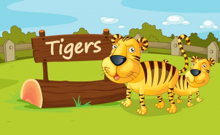 Illustration of animal enclosure at the zoo Vector
