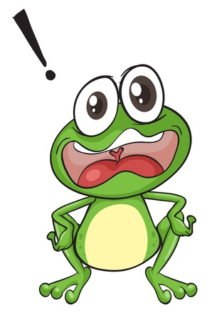 crazy frog: illustration of a green frog on a white background
