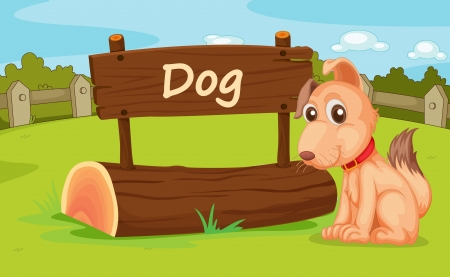 dog park: Illustration of animal enclosure at the zoo