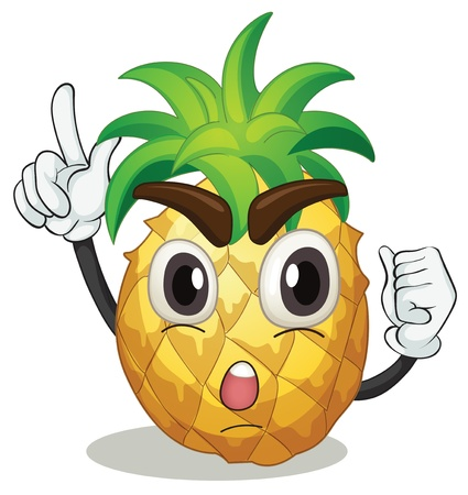 illustration of a pineapple on a white background Vector