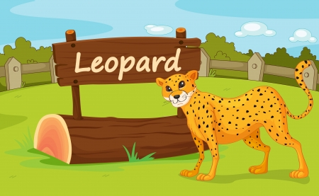 Illustration of animal enclosure at the zoo Stock Vector - 16117254
