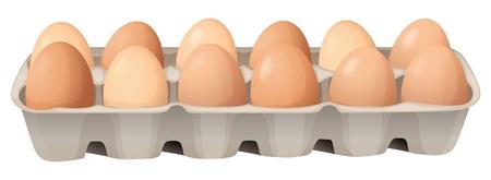 trays: illustratie van eieren op een witte achtergrond