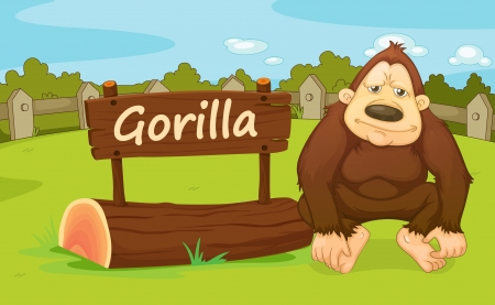 fenced: Illustration of animal enclosure at the zoo