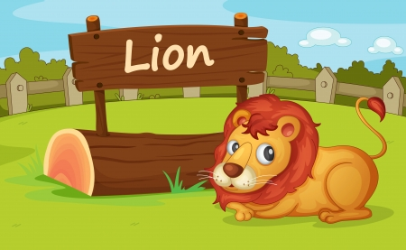 Illustration of animal enclosure at the zoo Stock Vector - 16117353