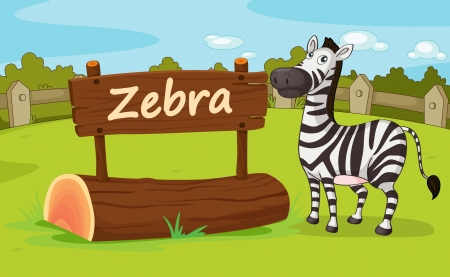 Illustration of animal enclosure at the zoo Stock Vector - 16117230
