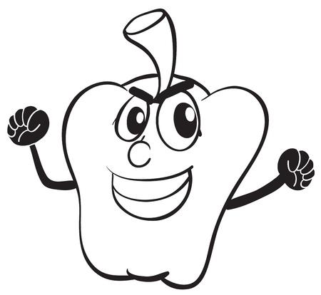 capsicum: detailed illustration of a capsicum on white background Illustration