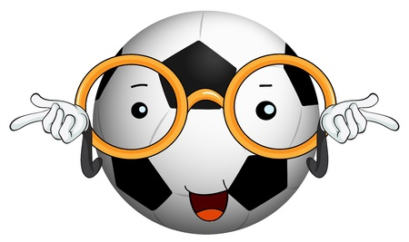 illustration of a football on a white background Vector