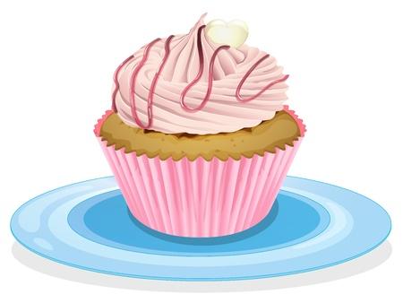 minature: illustrazione di un cupcake su sfondo bianco