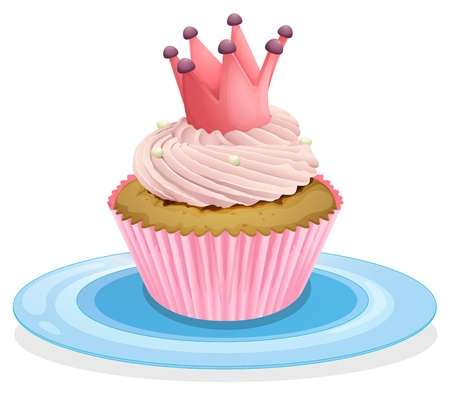 Illustration of an isolated cupcake Stock Vector - 16105476