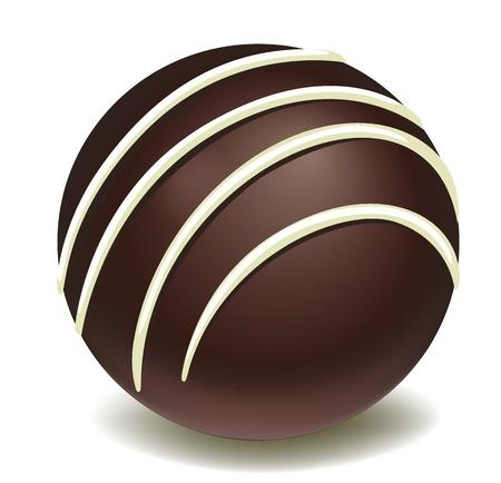 illustration of chocos on a white background
