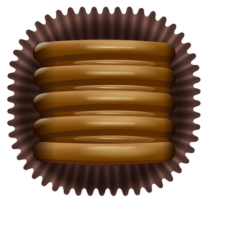 illustration of a chocos on a white background