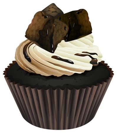 Ilustracja pojedyncze ciastko na białym tle