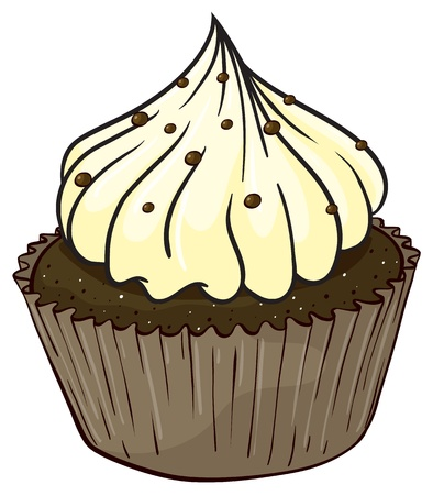 Illustration of an isolated cupcake Stock Vector - 16105421