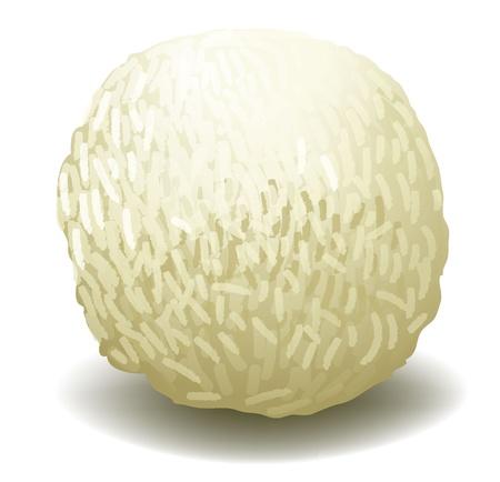 minature: illustration of a white chocolate on a white background Illustration