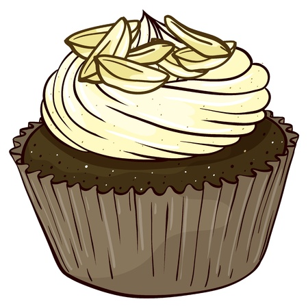 Illustration of an isolated cupcake Stock Vector - 16105409