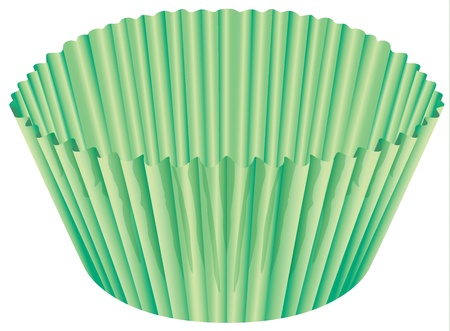 illustration of a green cup on a white background Illustration