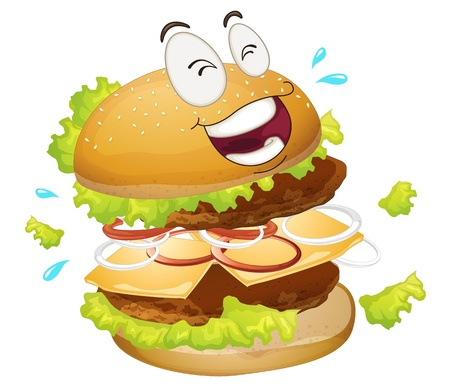 chutney: illustration of a burger on a white background