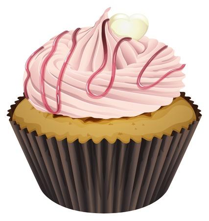 minature: Illustrazione di un Cupcake isolato su uno sfondo bianco Vettoriali