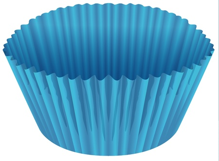 illustration of a blue cup on a white background Vector