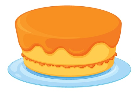 Illustration of an isolated a cake on a white background