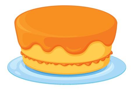minature: Illustrazione di un caso isolato una torta su uno sfondo bianco