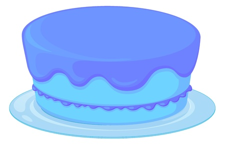 minature: Illustration of an isolated blue cupcake on a white