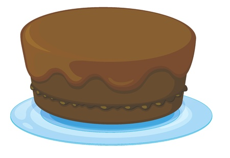 minature: Illustration of an isolated a cake on a white background