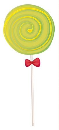minature: illustration of a green candy sweet on a white background