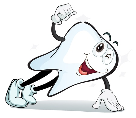 illustration of a tooth on a white background Stock Vector - 16105266