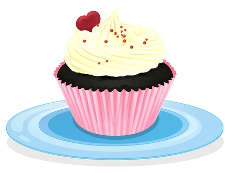 minature: illustration of a cupcake on a white background