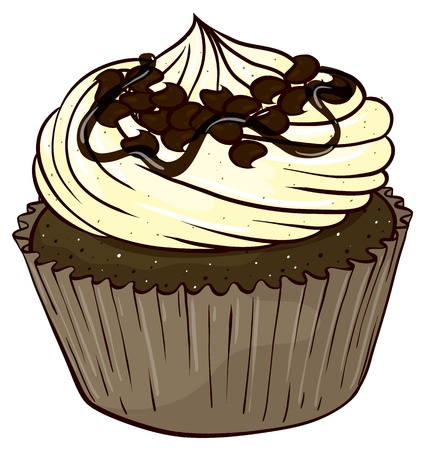 minature: Illustration of an isolated cupcake on a white background Illustration