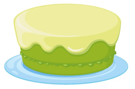 Illustration of an isolated a cake on a white background Vector