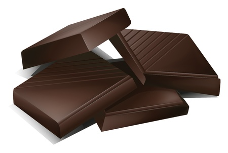 chocolate block: illustration of a chocs on a white background Illustration