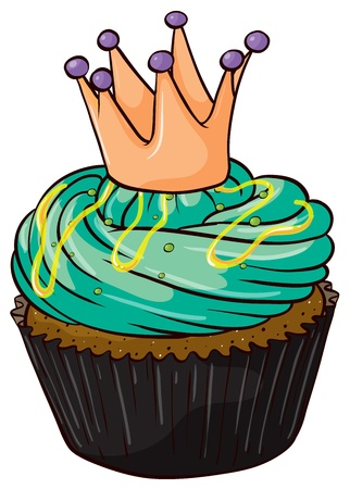 Illustration of an isolated a cupcake on a white background Stock Vector - 16105449