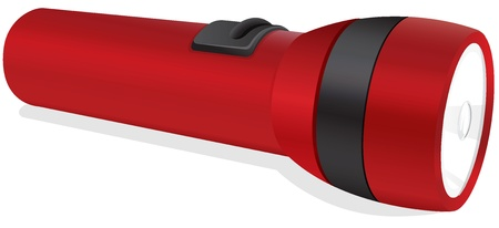 flashlight: illustration of a red torch on a white background