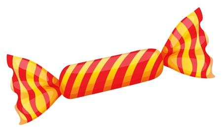 minature: illustration of a orange candy on a white background Illustration