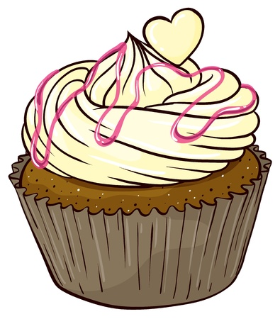 cupcakes isolated: Illustration of an isolated cupcake