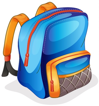 back packs: illustration of a school bag on a white background