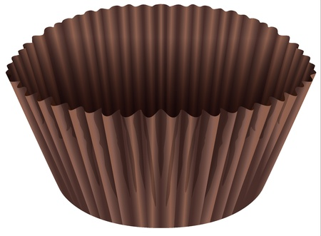 illustration of a brown cup on a white background
